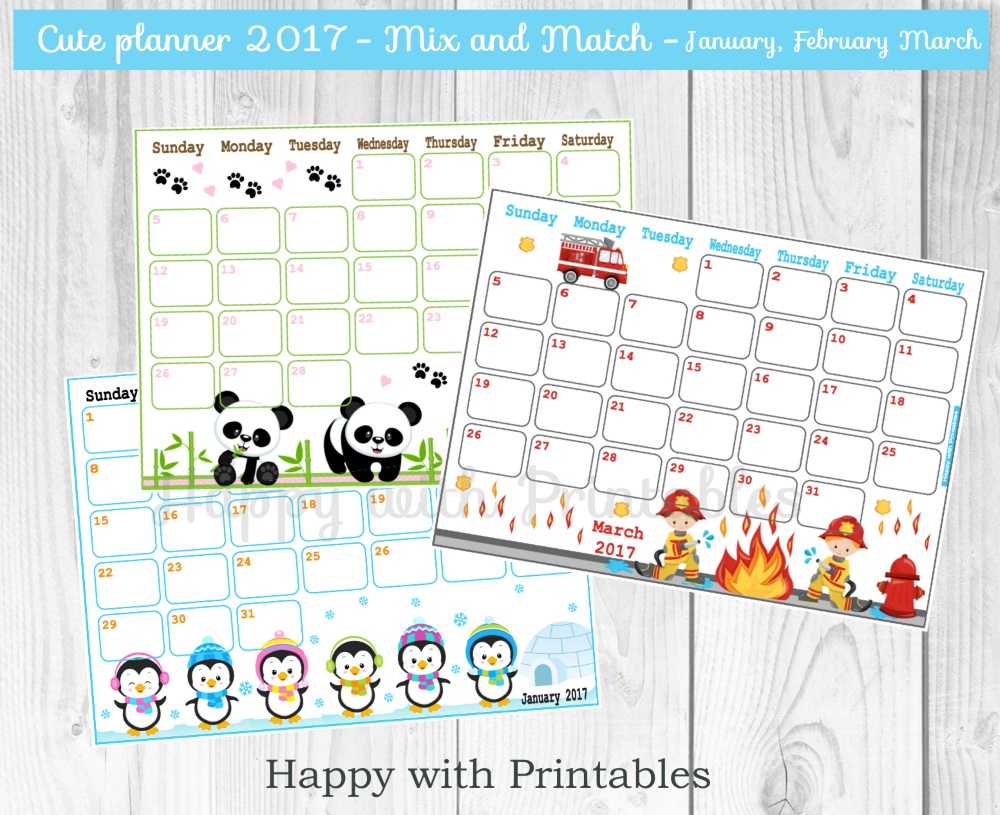 Calendar Home Planner : Happywithprintables calendar october cute planner