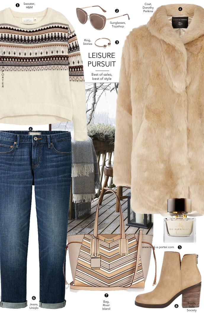 An outfit idea for a weekend away, winter break, winter walks via www.look-a-porter.com