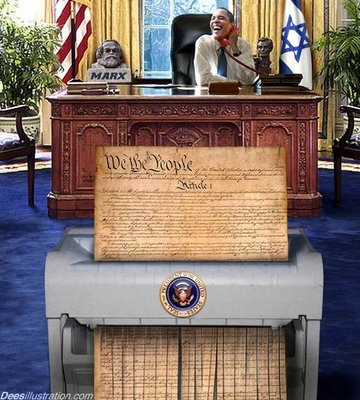 Obama shredding the Constitution