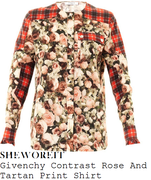 rochelle-humes-rose-floral-and-tartan-print-long-sleeve-shirt