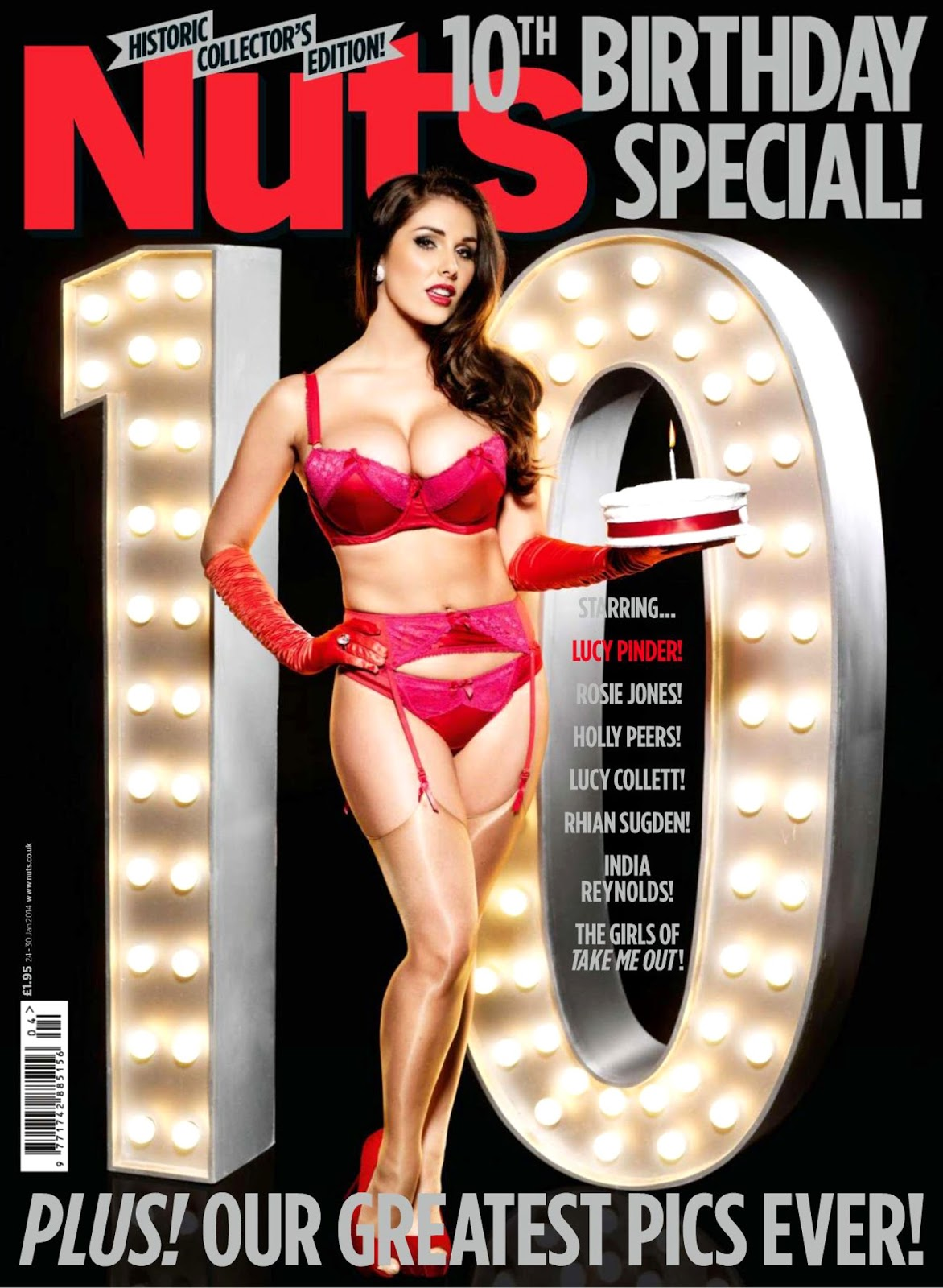 Magazine Photoshoot : Lucy Pinder, Rosie Jones, Holly Peers Photoshot For Nuts Magazine January 2014 Issue
