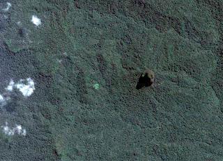Pico Cão Grande visto desde el espacio