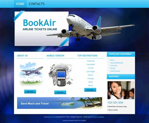 Book Air - Free Joomla! Template