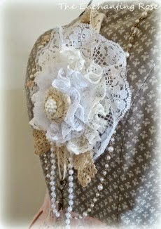 Lace & Pearl Ornament