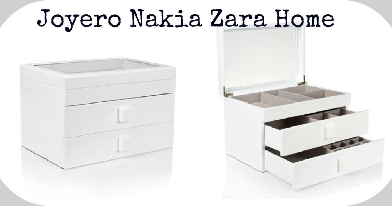 Peque os detalles martes deco joyero nakia for Cajas de almacenaje zara home