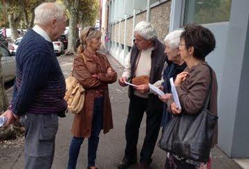 LINKY 16 oct 2018: tractage aux maires et conseillers municipaux devant la DDT