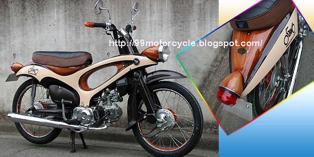 Modifikasi Motor Once Cool Honda Japanese Accent Wood