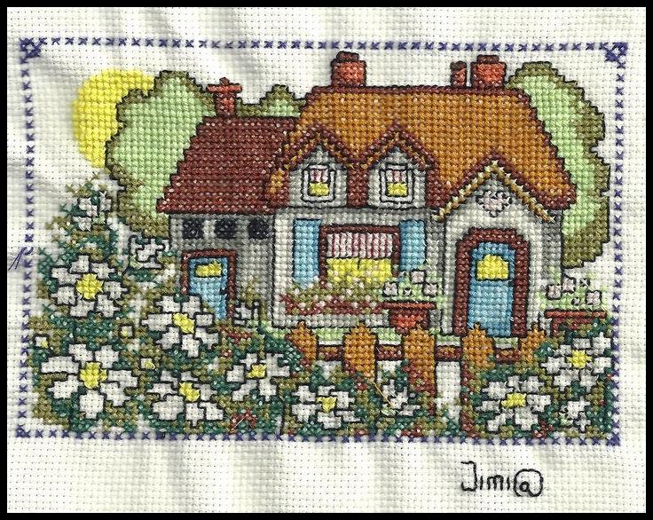 El taller de coser punto de cruz cuadro de jardin - Punto jardin ...