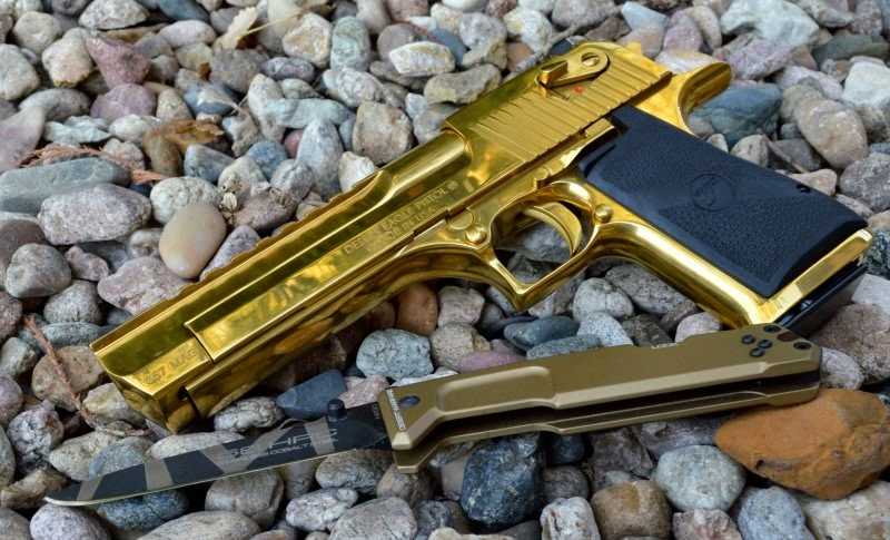 Magnum Research Desert Eagle Mark XIX Titanium Gold 357 Pistol Review