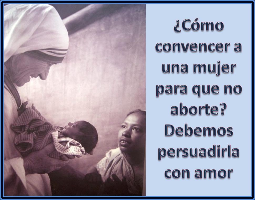 Madre Teresa y el Aborto