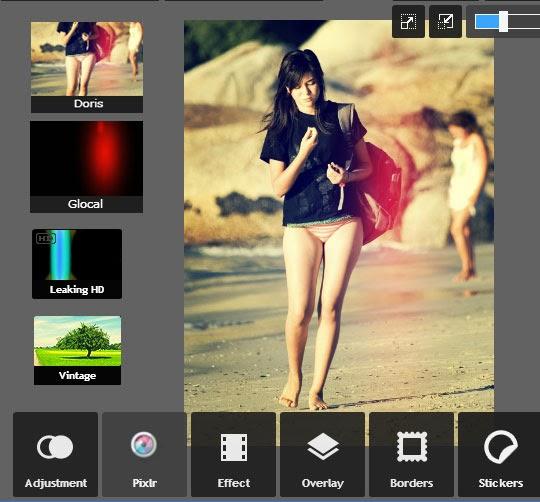Cara membuat efek polaroid dengan online editor