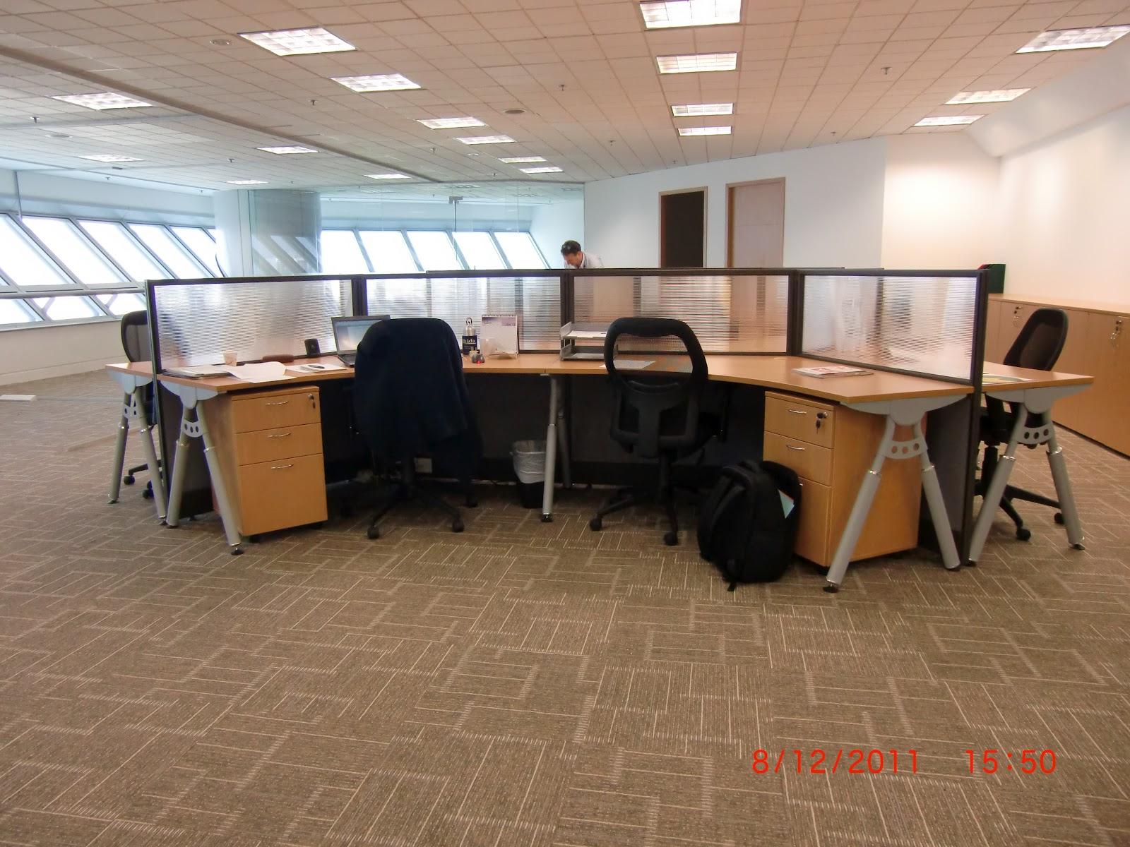 sleek office furniture. modern sleek cluster of 6 workstations office furniture e