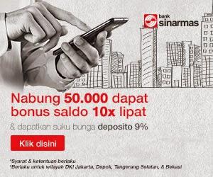 Klik di sini untuk pendaftaran Tabungan Online Bank Sinarmas. GRATIS!