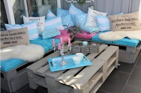 muebles de terraza de palés