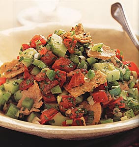 Fattoush receta vegetariana