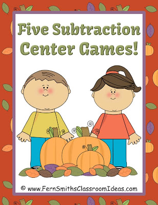 Fern Smith's Classroom Ideas Subtraction Centers for FALL - Five Different Strategies