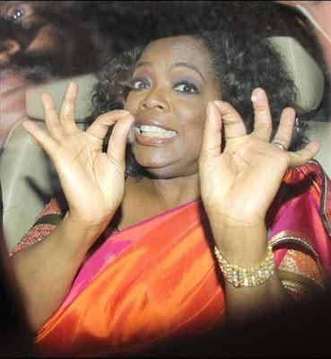 photos of oprah winfrey in amitabh bachchans car