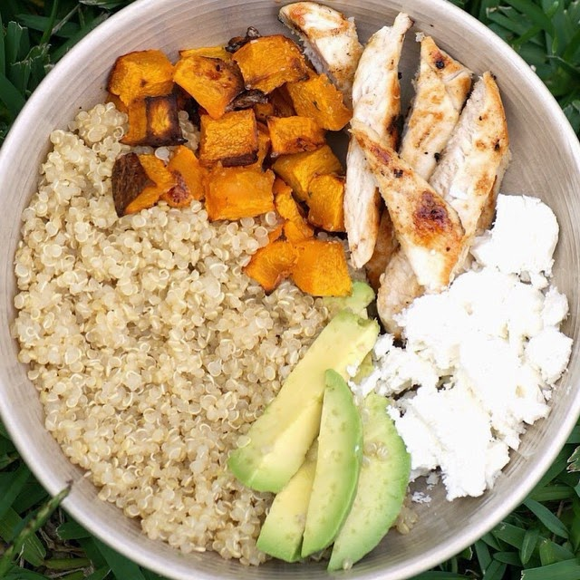 Pumpkin and Feta Quinoa Bowls