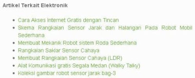 Contoh related posts