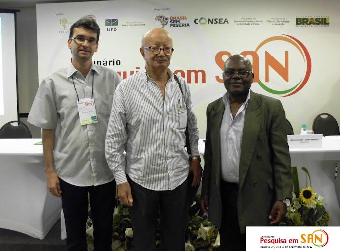 Alcemi Barros, Malaquias Batista e Pedro Kitoko - Semin. Nac.de Pesquisa em SAN, Brasília, Dez 2012