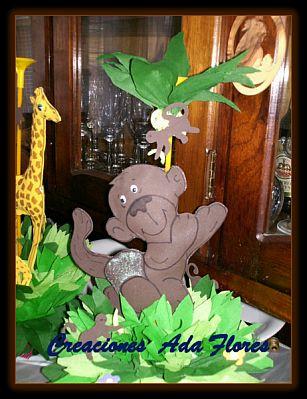 Infantiles  Decoraci  N Animales De La Selva  Centros De Mesa 9