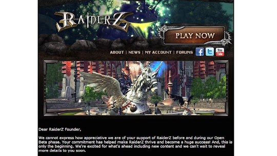 Unique Item For RaiderZ Founders