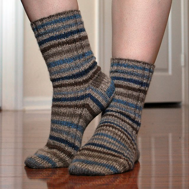 My Knitted Heart Vanilla Socks