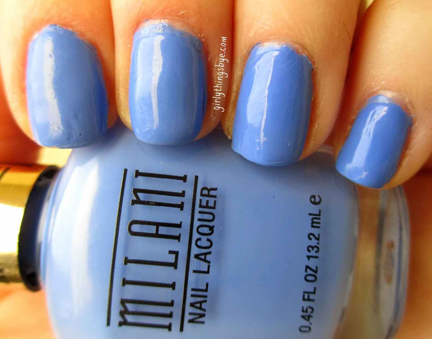 Milani Power Periwinkle nail polish swatch, @girlythingsby_e