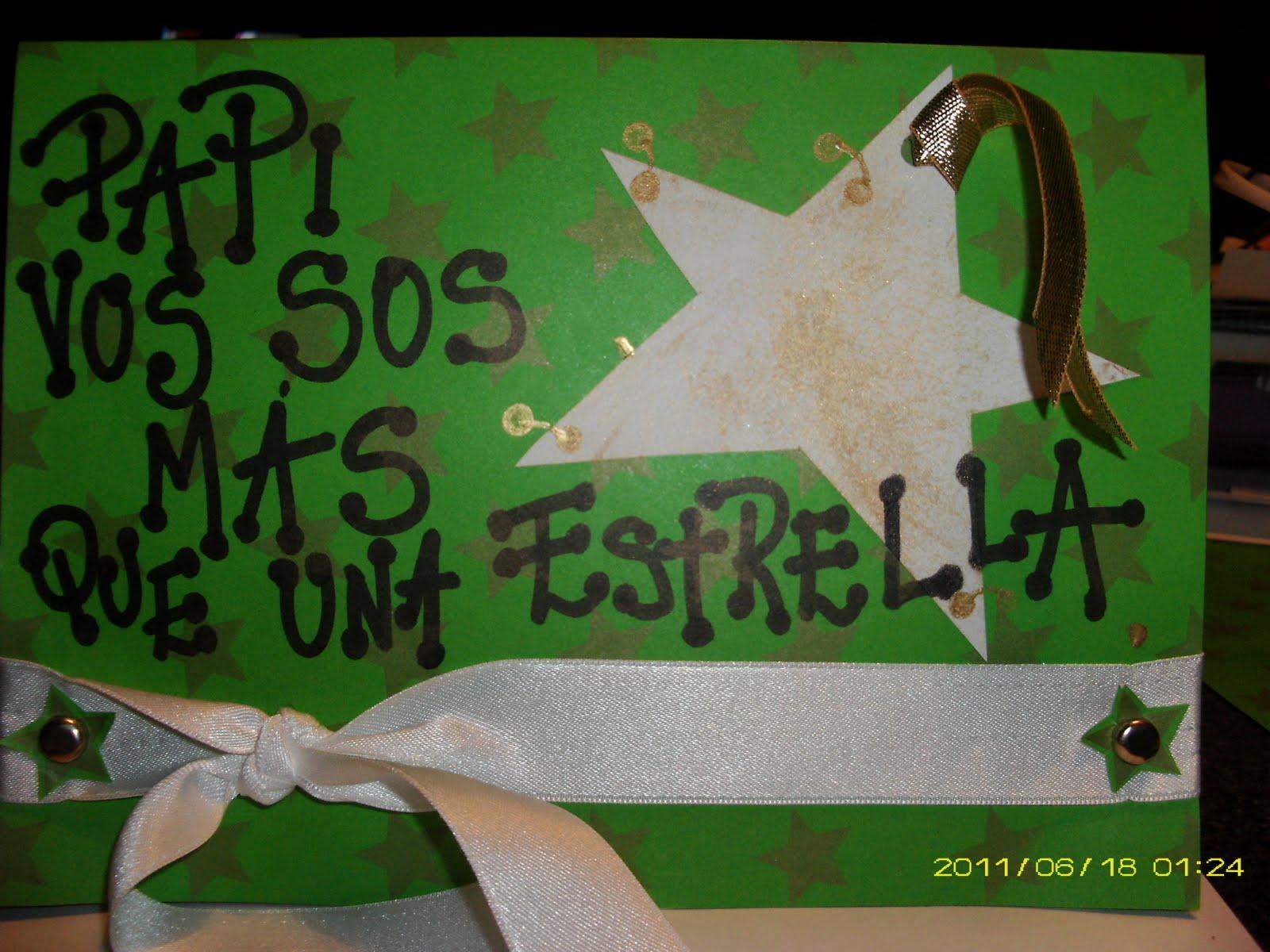Bajo La Misma Luna: TARJETA POP UP ESRELLAS. Feliz Día Del Padre!!!