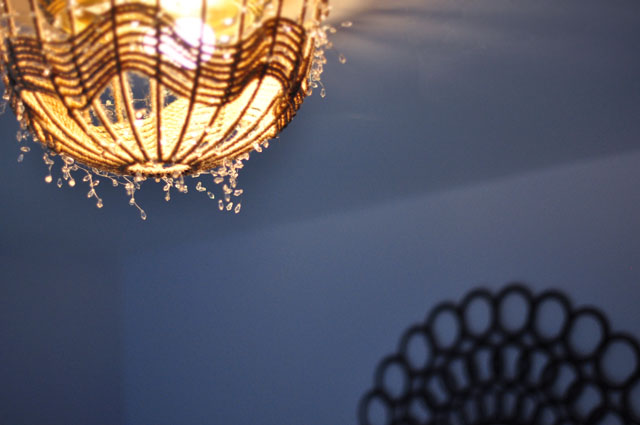 DIY Rope Pendant Lamp Ceiling Light Fixture Disguise