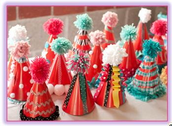 How to make children´s party hats ~ Big Solutions