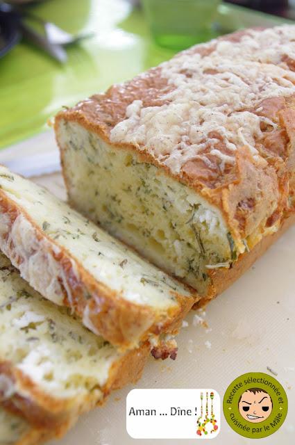 Cake aux herbes de Provence et feta