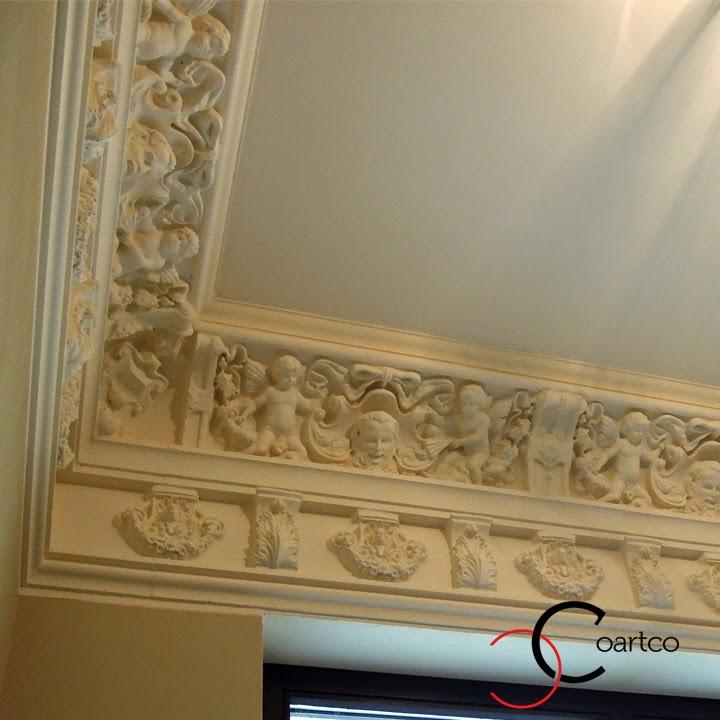 cornisa tavan pret, cornisa tavan ingeri, cornisa tavan din polistiren, profile decorative interior