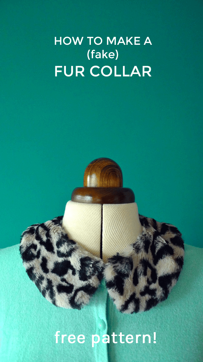 Tilly and the Buttons: Free pattern! Make a (fake) Fur Collar