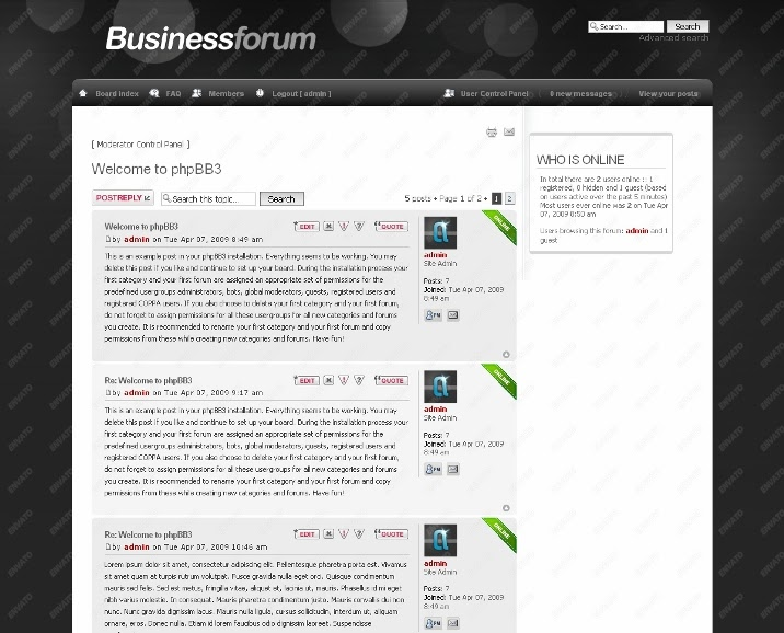 Business Forum phpbb Skin