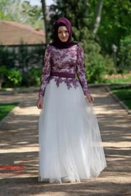 Foto model model baju gamis pesta mewah terbaru murah