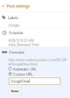 How to custom Blogger Post Permanent URL