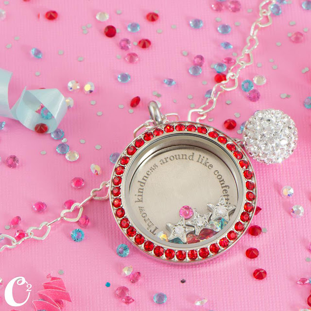 Throw Kindness Around Like Confetti Origami Owl Living Locket at StoriedCharms.com