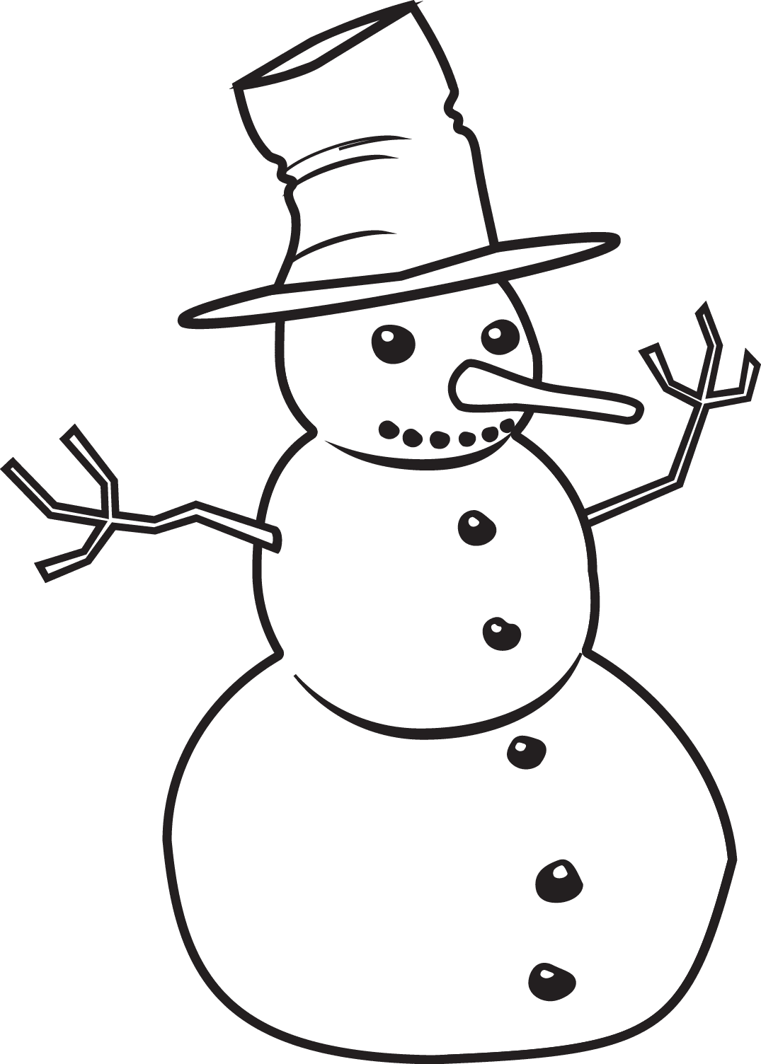 1075 x 1504 png 38kB, Printable Snowman/page/2 | New Calendar Template ...