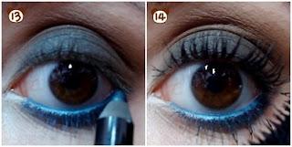 smokey eye marrom com preto