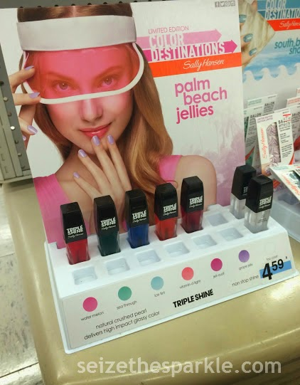 Sally Hansen Triple Shine Palm Beach Jellies Display