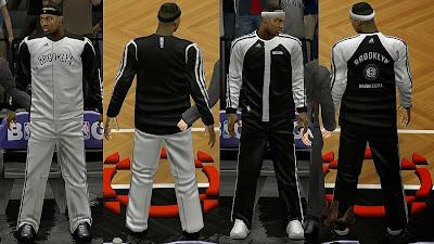 NBA 2K14 Brooklyn Nets Bench Uniforms
