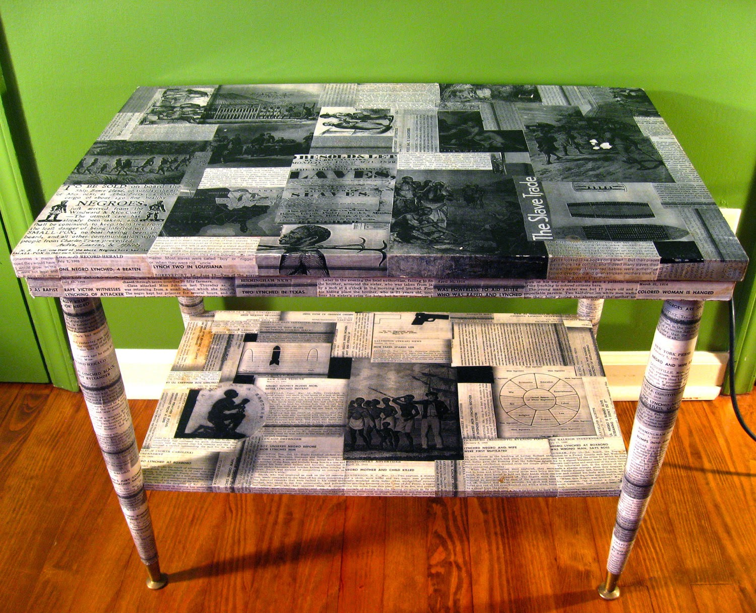 The art of up cycling ideas for doing up a coffee table for Inspirational decoupage coffee table