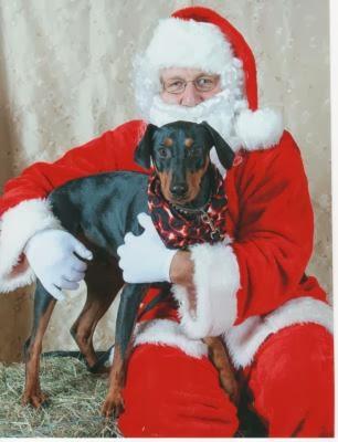 Santa and Nubs 2013