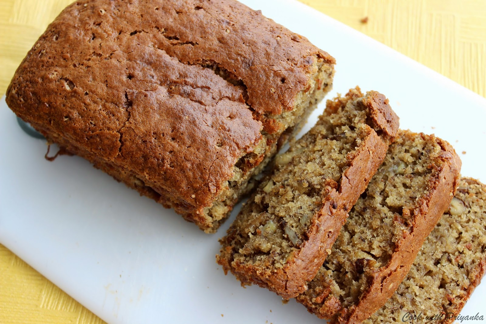 Eggless Banana Cake In Microwave