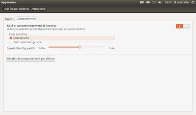 Ubuntu, modifier le comportement du dock d'unity