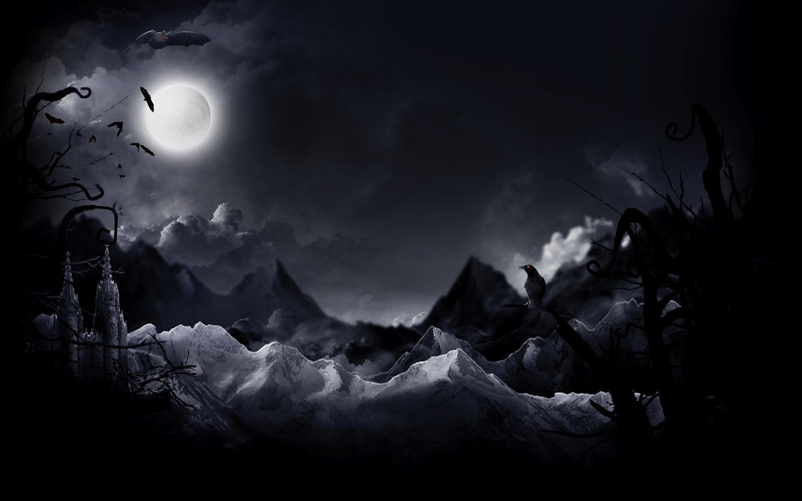 halloween moon wallpapers