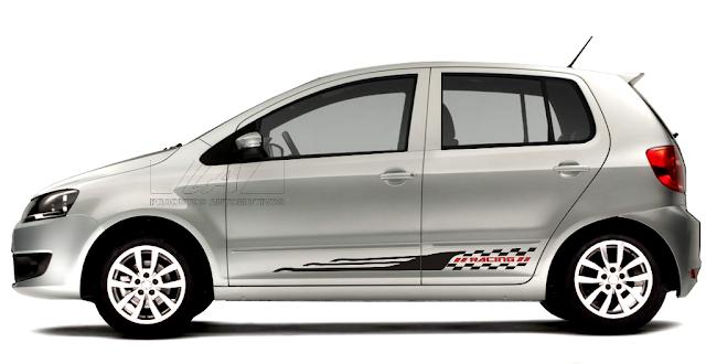 Kit adesivo tuning racing FR5 para carros de todas as marcas.