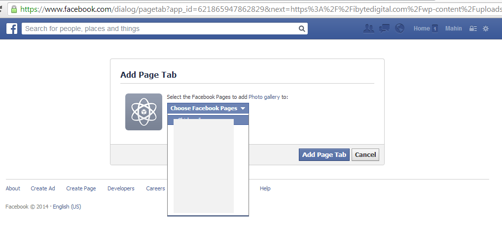 facebook Custom tab linking URL