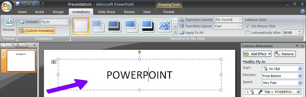 how to make animation in powerpoint 2007